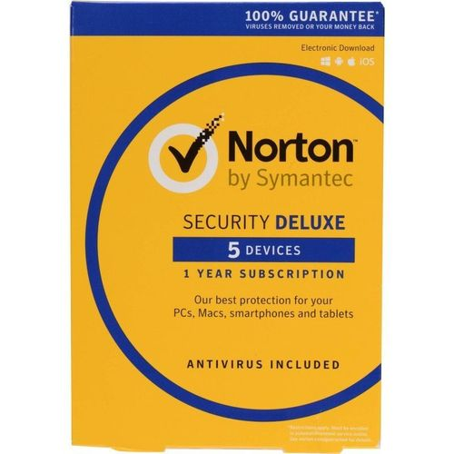 NORTON SECURITY DELUXE  5 PC Mac IOS Android  LICENZA 1 ANNO