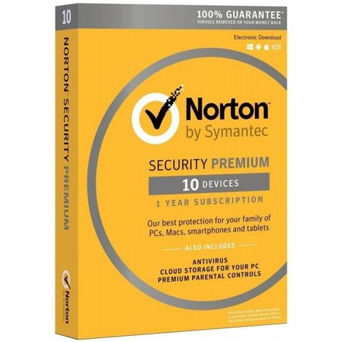 NORTON SECURITY PREMIUM 10 PC 1 ANNO LICENZA ESD NUOVO