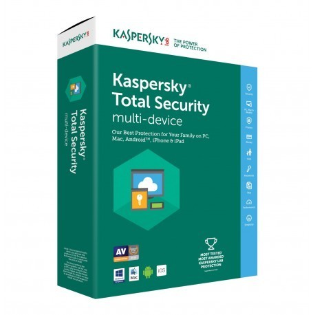 KASPERSKY TOTAL SECURITY 2019 5 PC 1 ANNO ESD Licenza