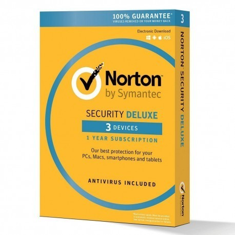 NORTON SECURITY DELUXE 3 PC Mac IOS Android LICENZA 1 ANNO