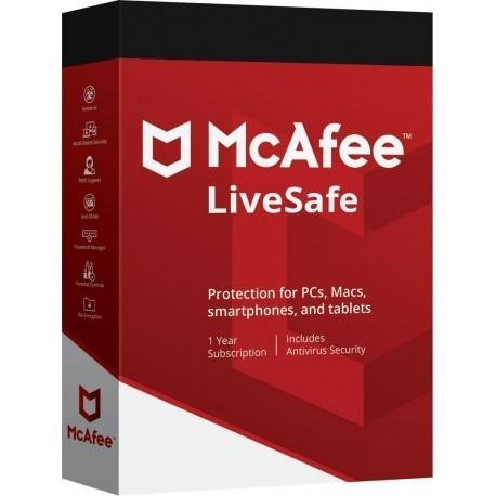 MCAFEE LIVESAFE DISPOSITIVI ILLIMITATI 1 ANNO